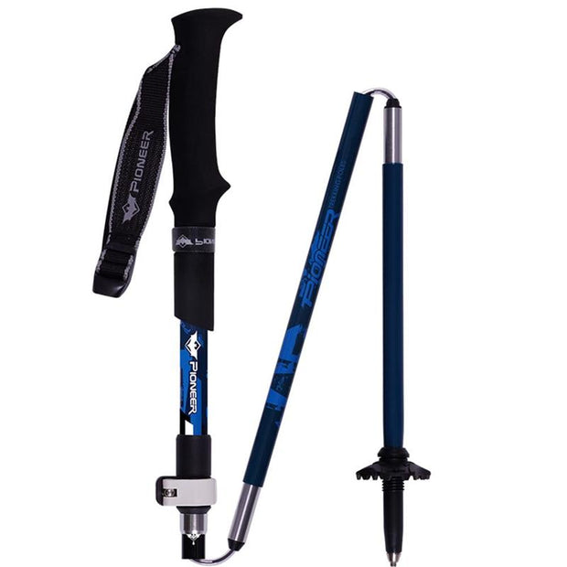 2 Pack Carbon Fiber Folding Trekking Poles Ultralight - travelgear4less