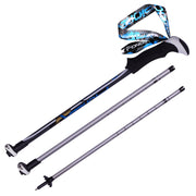 2 Pcs Telescopic Adjustable Nordic Walking Sticks 7075 Aluminum - travelgear4less