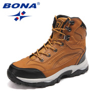 BONA New Arrival Classics Style Men Hiking Shoes Action Leather Men Athletic Shoes Outdoor Jogging Sneakers Fast Free Shipping - travelgear4less