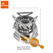 Fire Maple Spark Stove Camping Windproof Gas Stove Outdoor Cooking Stove Camping Hiking Propane Stove FMS-121 312g 2900W - travelgear4less