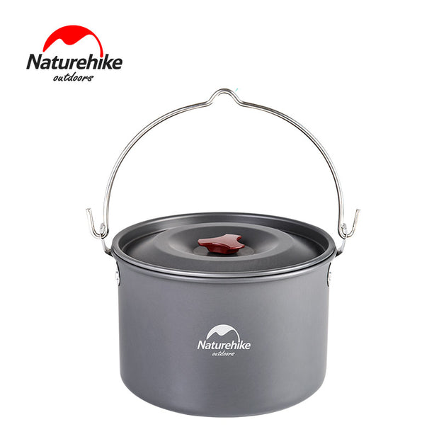 4-6 person Outdoor Cookware 4L Cooking Pot Utensils for Camping Picnic  NH17D021-G - travelgear4less