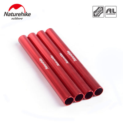 4 pcs aluminum alloy tent pole repair tube single rod mending pipe lengthen13cm suitable - travelgear4less