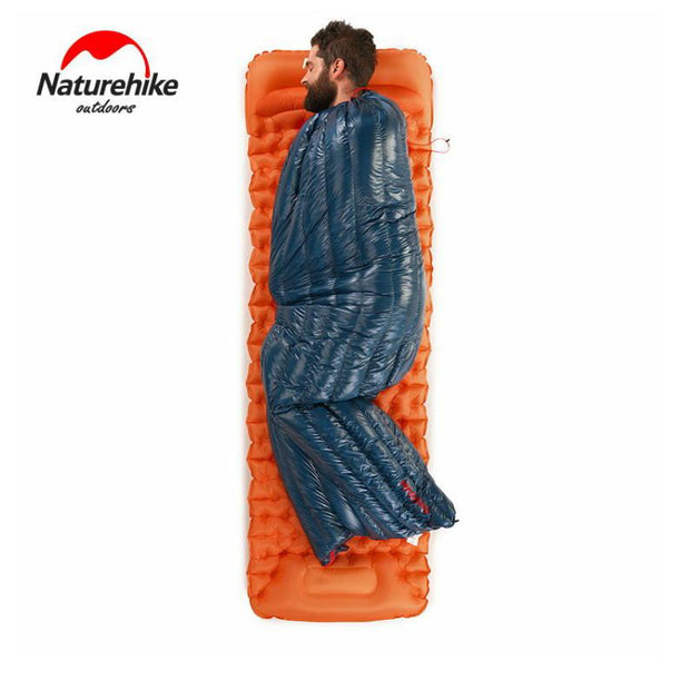 NatureHike Ultralight Envelope Sleeping Bag Goose Down Lazy Bag Camping Sleeping Bags 570g NH17Y010-R - travelgear4less