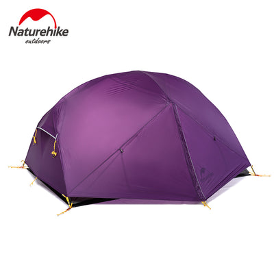 Mongar 3 Season Camping Tent 20D Nylon Fabic Double Layer Waterproof Tent for 2 Persons - travelgear4less