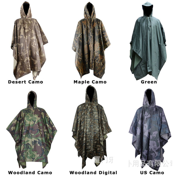 3 in 1 Tactics Camouflage Raincoat - travelgear4less