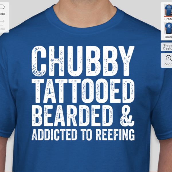 Chubby, Tattooed, Bearded & Addicted to Reefing t-shirt