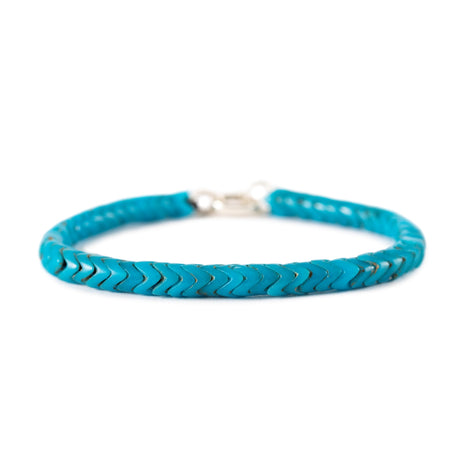 Accent - Vintage Blue Snake Beads