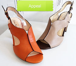 Appeal - Taupe Open Toe Heel by Emma Kate