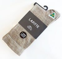 Wool - Loose Top - Tough Toe Socks in Taupe