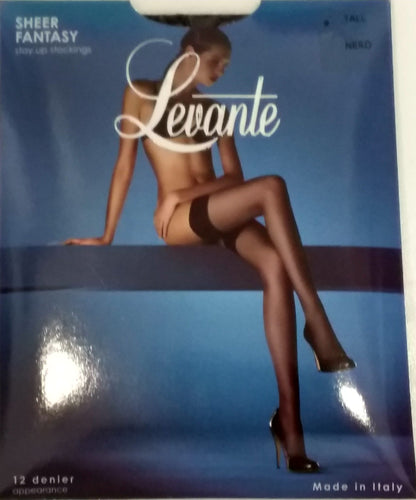 Levante Sheer Fantasy Stay Up Stockings