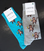 Monkey Socks - Grey