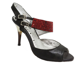 Ameise SHS054 in Black and Red High Heel