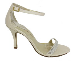 Nina Evening Shoe - Ivory by Cinnamon