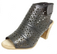 Zahara Black Leather Heel by Christiano Bellaria Design