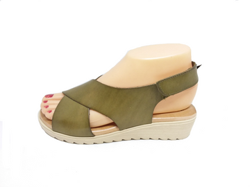 Blend Khaki Sandal by Xbonita Spain