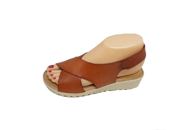 Blend Cuero Tan Coloured Sandal by Xbonita Spain
