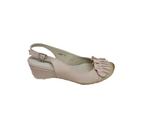 Kinky - Neutral Wedge with Burnished Toe by Cinnamon