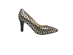 Alicia Gold and Black Heel by Emma Kate