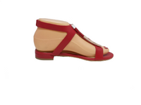 Marys - Red Flat Sandal by Martini Marco