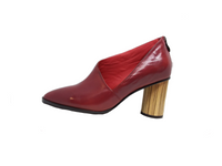 Josephine - Deep Red Leather Heel by Parker-Roche