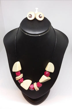 Apple Slice Necklace and Earring Set