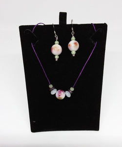 Rose Blush Necklace and Earrings Set