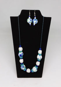 Oriental Fantasy Necklace and Earrings Set