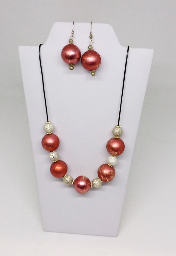 Tangerine Necklace and Earrings Set