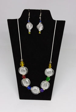 Fruit Drops and Ice Necklace and Earrings Ser
