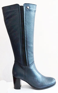 Zelda - Knee High Boot in Navy Blue by Vago