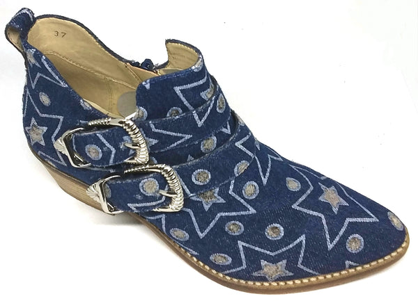 Nemo - Funky Denim Look Ankle Boot by Martini Marco - LAST PAIR Size 37