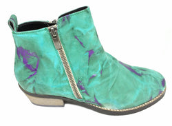 Nelly - Green and Purple Leather Ankle Boot by Martini Marco - ONLY SIZE 38 (AU 7 to 7.5) LEFT