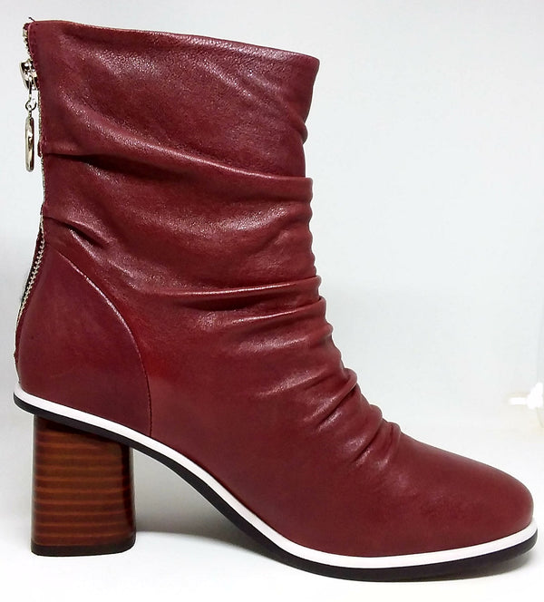 Amara Deep Red Ankle Boot by Parker-Roche