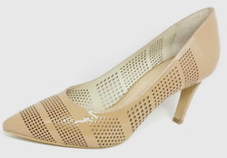 Mooch - Nude Patent Leather Heel with Cut Out Detail by Martini Marco