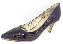 Mooch - Navy Blue Patent Leather Heel by Martini Marco - LAST PAIR Size 41 (AU 10 to 10.5)