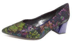 Nauri - Blue Heeled Patterned Shoe by Martini Marco