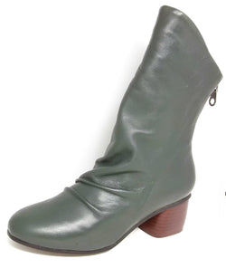Nigh - Green Mid Length Boots by Martini Marco - THIS IS THE LAST PAIR - SIZE 41 (AU 10 TO 10.5)