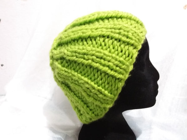 Lime Green Head Warmer/Beanie