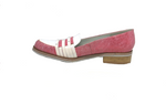 Gobic - Flat Dress Shoe in Pink and White by Un Tour en Ville