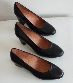 Hostess Black Court Shoe - 35mm Heel