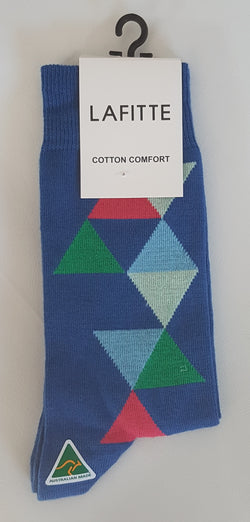 Abstract Cotton Socks by Lafitte