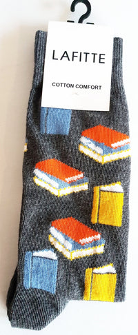 Book Socks - Grey