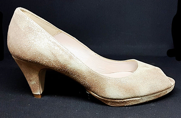 Galaxy - Muted Gold Varigated Sparkle Heel by Marian Spain