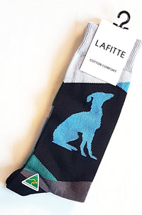 Greyhound Pattern Socks - Multi-Colour