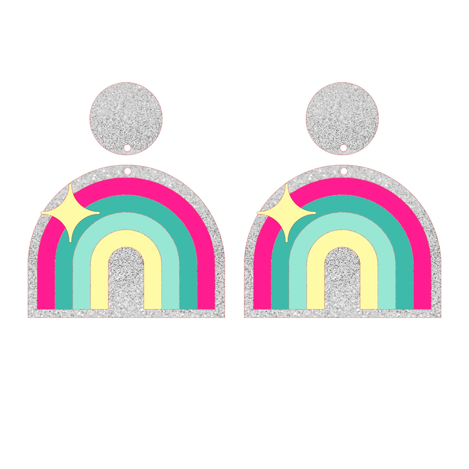 Rainbow sparkles earrings 🌈