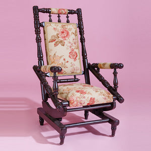 Antique floral rocking chair