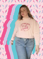 Load image into Gallery viewer, Sad Chair Club 💋cropped pink jumper