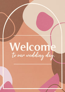 Digital Wedding Welcome Sign 🦢 immediate delivery