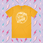 Load image into Gallery viewer, Sad Chair Club 💛 Mustard t-shirt adult
