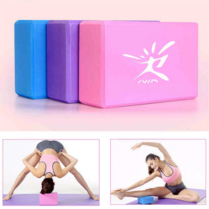 EVA Foam Yoga Blocks/Bricks for Exercise, Pilates, Fitness, and Gym Practice.